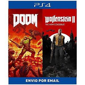 DOOM + Wolfenstein II Bundle - Ps4 Digital