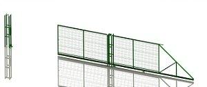 Portão Autoportante em Gradil Newcerk 3D - Sobmedida