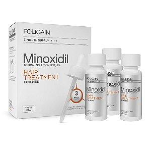 FOLIGAIN MINOXIDIL 5% Fornecimento de 3 Meses
