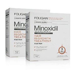 FOLIGAIN MINOXIDIL 5% Fornecimento de 6 Meses