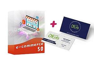 E-commerce 50 + Cartão de Visitas