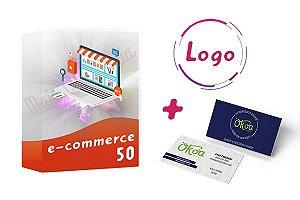 E-commerce 50 + Logo + Cartão de Visitas