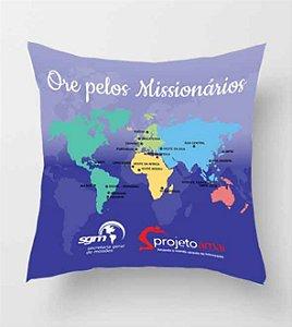 Almofada quadrada - Ore pelos missionários
