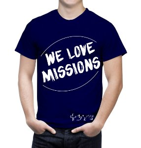 """We love Missions"" - Camiseta azul marinho"