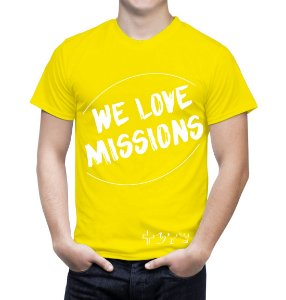 """We love Missions"" - Camiseta amarela"