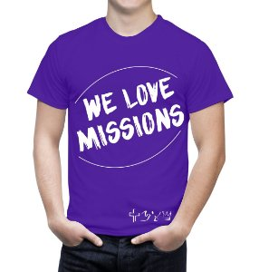 """We love Missions"" - Camiseta roxa"