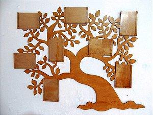 Árvore porta retrato família - Em MDF3mm envernizada