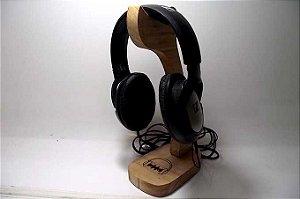 Porta Fone de ouvido de madeira maciça