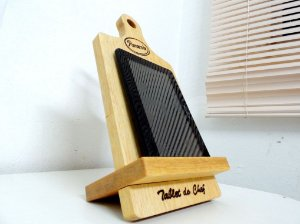 Tábua de corte para churrasco e cozinha - Porta Tablet  produto exclusivo