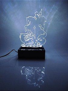 Luminária Abajour  de acrílico -  São Jorge Super Led