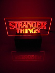 Luminária de acrílico -  Stranger Things - Vermelho