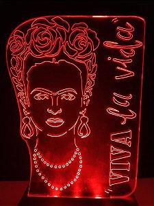 Luminária de acrílico - Frida Kahlo