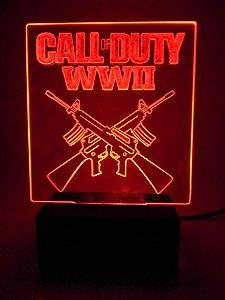 Luminária de acrílico - Call of Duty - Vermelha