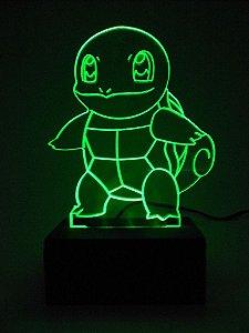 Luminária de acrílico - Pokemon Squirtle - Verde