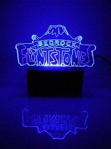 Luminária de acrílico - Flinstons Bedrock - Azul