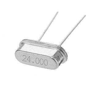 Cristal Oscilador 24.000 MHZ HC-49S Caneca Baixa