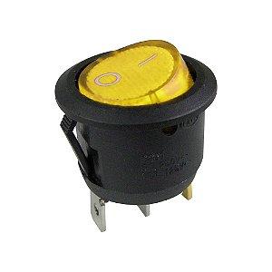 Chave Gangorra Redonda KCD1-106N Neon (Amarelo)