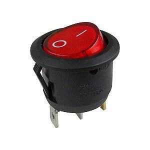 Chave Gangorra Redonda KCD1-106N Neon (Vermelho)
