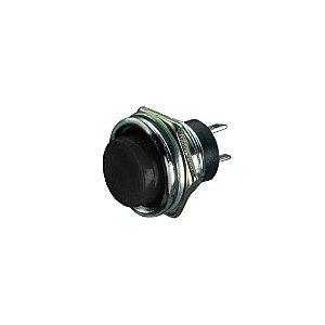 Push Button R13-507 S/Trava Corpo Metal (Preto)