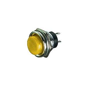Push Button R13-507 S/Trava Corpo Metal (Amarelo)