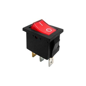 Chave Gangorra KCD1-102N 3T 6A 250V I/O Neon (Vermelho)