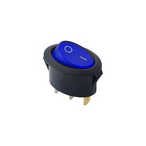 Chave Gangorra Oval C/Neon KCD1-115N 6A-250V (Azul)