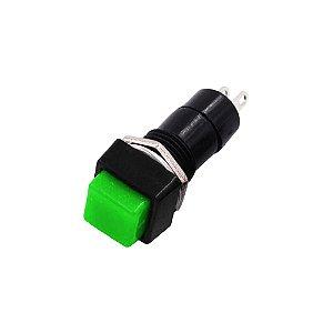 Botão Push Button PBS-12A Quadrado c/ Trava (Verde)