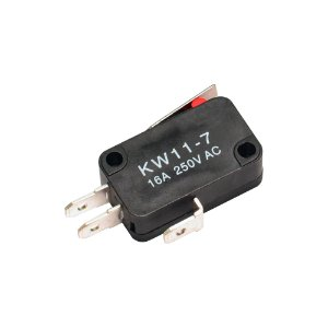 Chave Micro Switch KW11-7-2 3T 16A 18mm 250VAC