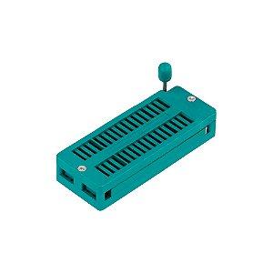 Soquete ZIF Textool DS-1043 32P padrão DIP