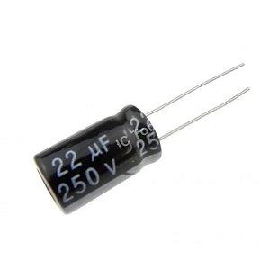 Capacitor Eletrolítico 22uF / 250V