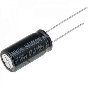 Capacitor Eletrolítico 47uF / 160V