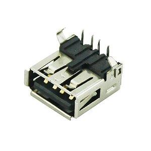 Conector USB Fêmea 90º YH-USB01A