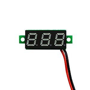 Mini Módulo Voltímetro 2,5-30 VDC Display 3 Dígitos Amarelo