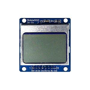 Display LCD Nokia 5110 84x48 Placa Azul - Backlight Azul