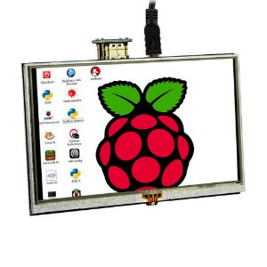 "Display LCD TFT 5"" 800 x 480 Touch Screen Raspberry Pi"