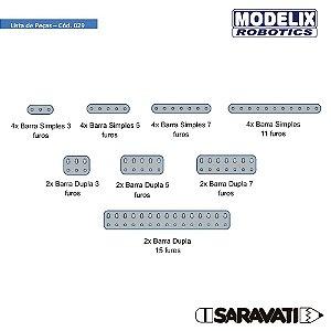 Modelix 029 - Kit Barras metalicas
