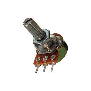 Potenciômetro Rotativo WH148-1 500K L20 3T Modelo B Linear
