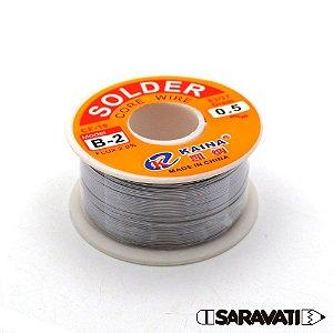 Solda Estanho Fio 0,5mm 63x37 Solder Rolo 100g