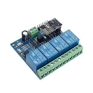 Módulo Relé 4 Canais com ESP8266 Wifi IOT (12V)