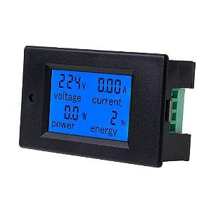 Voltímetro Amperímetro e Wattímetro AC 80~260V 100A