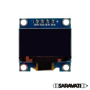 "Display OLED 128x64 Px - 0.96"" - 4 Pin - Amarelo e Azul"