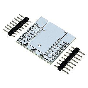 Placa Adaptador para Soldar ESP-12E ESP-8 ESP-7 ESP8266