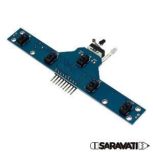 Módulo Sensor Infravermelho IR TCRT 5000 5 Canais - 74HC14D