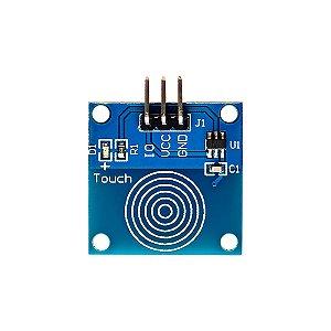 Botão Sensor Touch Toque Capacitivo TTP223B Azul