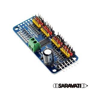 Módulo I2C Para Servo Motor - PCA9685 - 16 Canais 12 Bit