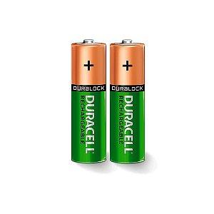 Pilha Duracell AAA Recarregável 1,2V 750mAh NiMH 2 Pilhas