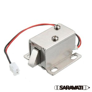Mini Fechadura Solenóide Trava Elétrica 6V