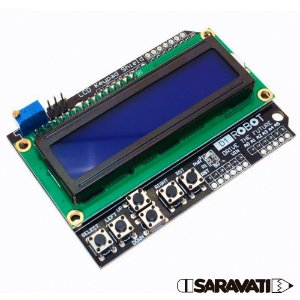Display LCD 1602 LCD Keypad Shield Arduino Backlight Azul