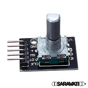 Módulo Encoder Decoder KY-040 Rotacional / Push Button