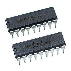 Kit Circuito Integrado Encoder HT12E + Decoder HT12D RF